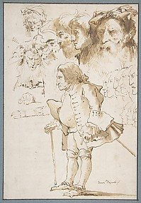 Caricature of a Gentleman and Other Studies