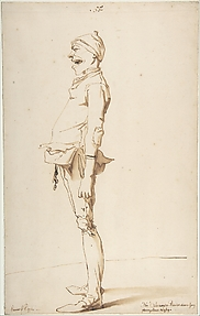 Caricature of the Artist&#39;s Younger Brother Marie-Alexandre-Franois