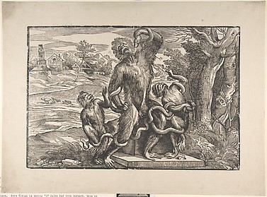 Caricature of the Laocoön