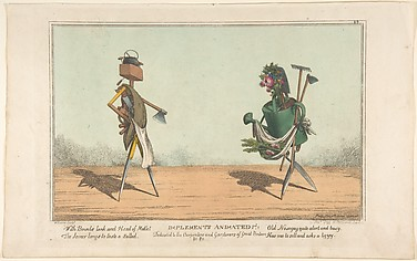 Implements Animated, Pl. 1, Dedicated to the Carpenters and Gardeners of Great Britain