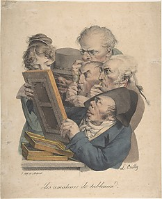 The Art Connoisseurs (Les Amateurs de Tableaux), from the series Recueil des Grimaces (Collection of Grimaces)