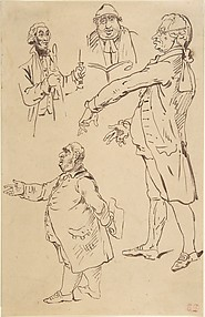 Studies of Four Englishmen, after James Gillray