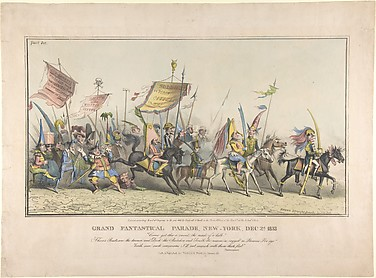 Grand Fantastical Parade, New-York, December 2, 1833