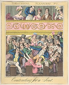 Theatrical Pleasures, Plate 2: Contending for a Seat