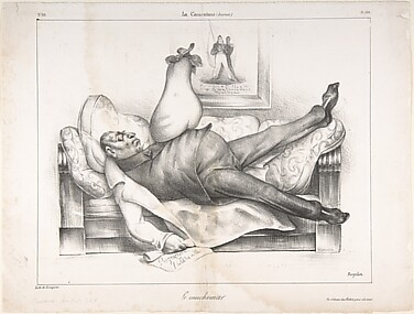 Le Cauchemar (The Nightmare), published in La Caricature no. 69, February 23, 1832