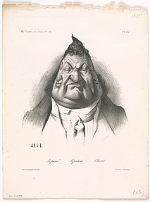The Past, the Present, and the Future (Le passé – Le présent – L'Avenir), from La Caricature, no. 166, Jan. 9, 1834