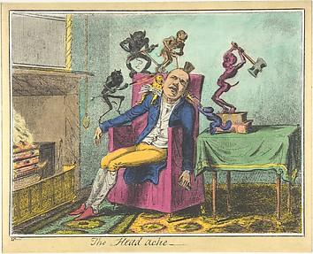The Headache, A Print after George Cruikshank