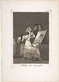 Plate 55 from 'Los Caprichos': Until death' (Hasta la muerte.)