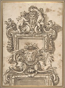 Design for an Overdoor Decoration (recto); Rinceaux (verso)