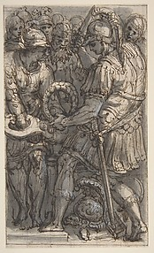 Alexander Cutting the Gordian Knot, Study for a Fresco in the Castel Sant'Angelo, Rome
