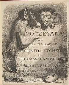 Title Page: Monkey-Ana or Men, in Miniature