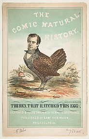 The Hen That Hatched This Egg (Henry L. Stephens): Title Page, The Comic Natural History of the Human Race