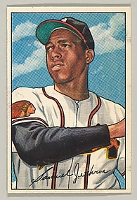 Sam Jethroe, Outfielder, Boston Braves, from Picture Cards, series 6 (R406-6) issued by Bowman Gum