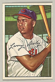 Larry Doby, Outfielder, Cleveland Indians, from the series Picture Cards (no. 115)