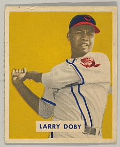 Larry Doby, Outfield, Cleveland Indians, from a series of 240 (no. 233)