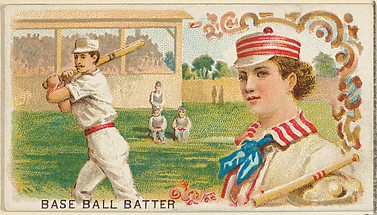 Baseball Batter, from the Games and Sports series (N165) for Old Judge Cigarettes