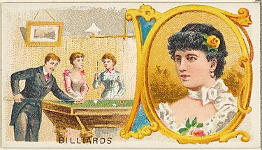 Billiards, from the Games and Sports series (N165) for Old Judge Cigarettes