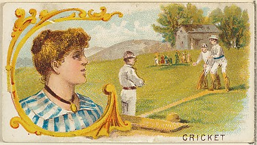 Cricket, from the Games and Sports series (N165) for Old Judge Cigarettes