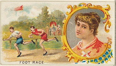Foot Race, from the Games and Sports series (N165) for Old Judge Cigarettes