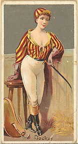 Jockey, from the Occupations for Women series (N166) for Old Judge and Dogs Head Cigarettes