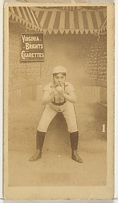 Card 1, from the Girl Baseball Players series (N48, Type 2) for Virginia Brights Cigarettes