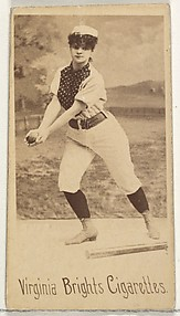 From the Girl Baseball Players series (N48, Type 1) for Virginia Brights Cigarettes