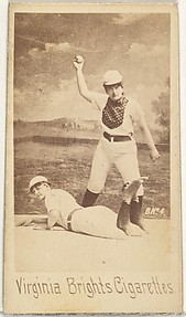 Card 4, from the Girl Baseball Players series (N48, Type 1) for Virginia Brights Cigarettes