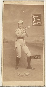 3rd Base, from the Girl Baseball Players series (N48, Type 2) for Virginia Brights Cigarettes