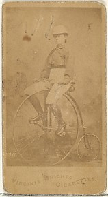 Card 11, from the Girl Cyclists series (N49) for Virginia Brights Cigarettes