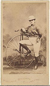 Card 15, from the Girl Cyclists series (N49) for Virginia Brights Cigarettes