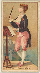 Bandmaster, from the Occupations of Women series (N502) for Frishmuth's Tobacco Company