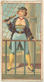 Captain, from the Occupations of Women series (N502) for Frishmuth's Tobacco Company