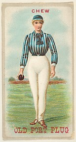 From the Sports Girls series (N463) for Old Port Plug Tobacco
