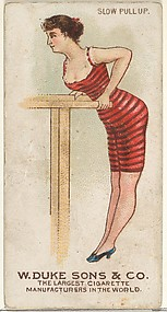 Slow Pull Up, from the Gymnastic Exercises series (N77) for Duke brand cigarettes