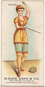Fencing, from the Gymnastic Exercises series (N77) for Duke brand cigarettes