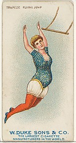 Trapeze, Flying Jump, from the Gymnastic Exercises series (N77) for Duke brand cigarettes