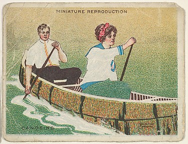 Card 309, Canoeing, from the series 