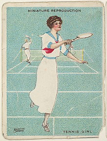 Card 308, Tennis Girl, from the series