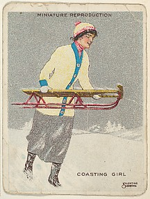 Card 317, Coasting Girl, from the series