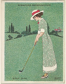 Card 310, Golf Girl, from the series