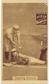 Card 1, Stealing Second, from the series