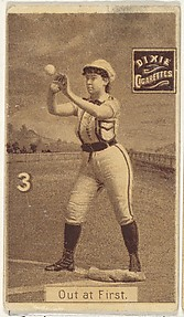 Card 3, Out at First, from the series