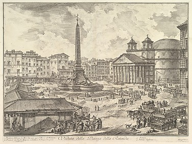 The Piazza della Rotonda, with the Pantheon and Obelisk (Veduta della Piazza della Rotonda)