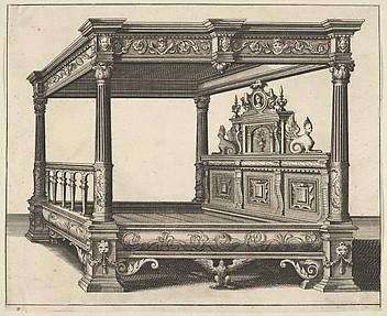 Canopy Bed from 'Verscheyden Schrynwerck (...)' ['Plusieurs Menuiseries (...)']