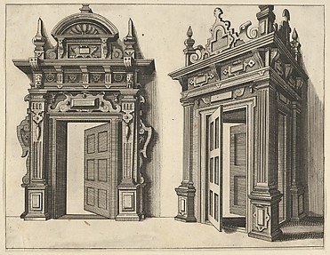 Two Wooden Portals from 'Verscheyden Schrynwerck (...)' ['Plusieurs Menuiseries (...)']