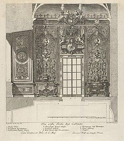 The First Wall of the Porcelain Room, from: 'Fürstlicher Baumeister Oder: Architectura civilis'