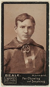 Beale, Harvard University, from the College Football Stars series (N302) for Mayo's Cut Plug Tobacco