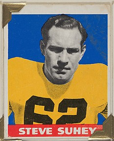 Steve Suhey, from the All-Star Football series (R401-2), issued by Leaf Gum Company