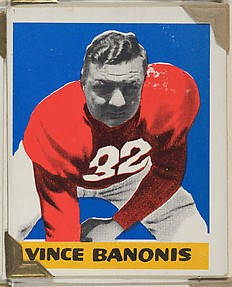 Vince Banonis, from the All-Star Football series (R401-2), issued by Leaf Gum Company