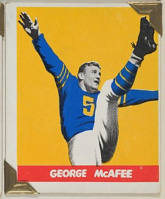 George McAfee, from the All-Star Football series (R401-2), issued by Leaf Gum Company
